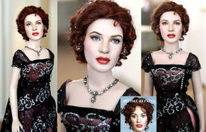 Kate Winslet as Titanic Rose custom doll by noeling
