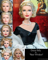 Grace Kelly doll repaint from Rear Window