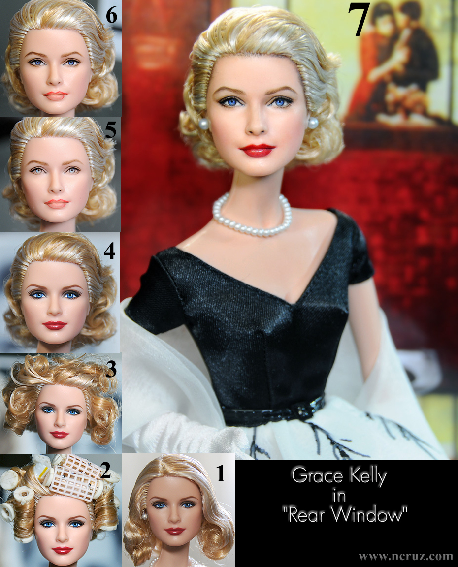 Grace Kelly doll repaint from Rear Window by noeling