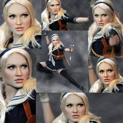 Hot Toys Sucker Punch Babydoll custom repaint by noeling