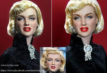 Marilyn Monroe custom doll repaint by noeling