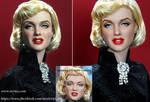 Marilyn Monroe custom doll repaint