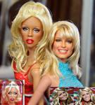 Rupaul doll meets Farrah Fawcett doll