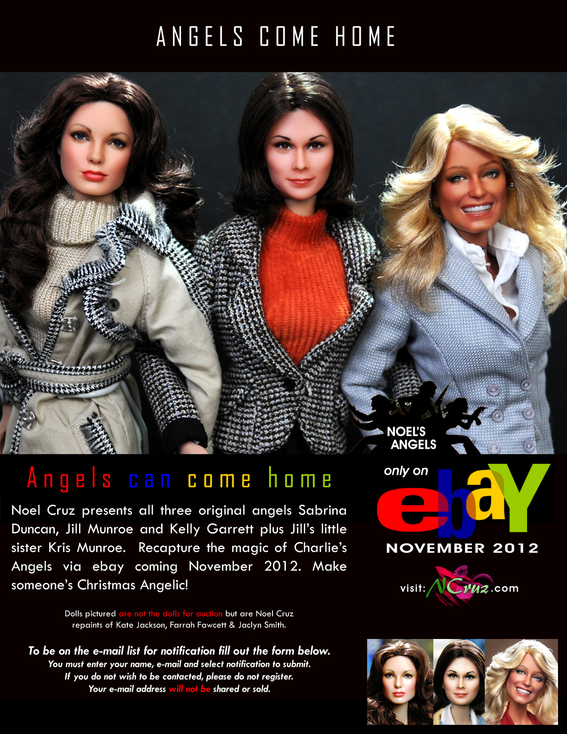 original Charlie's Angels Dolls Farrah Fawcett by noeling