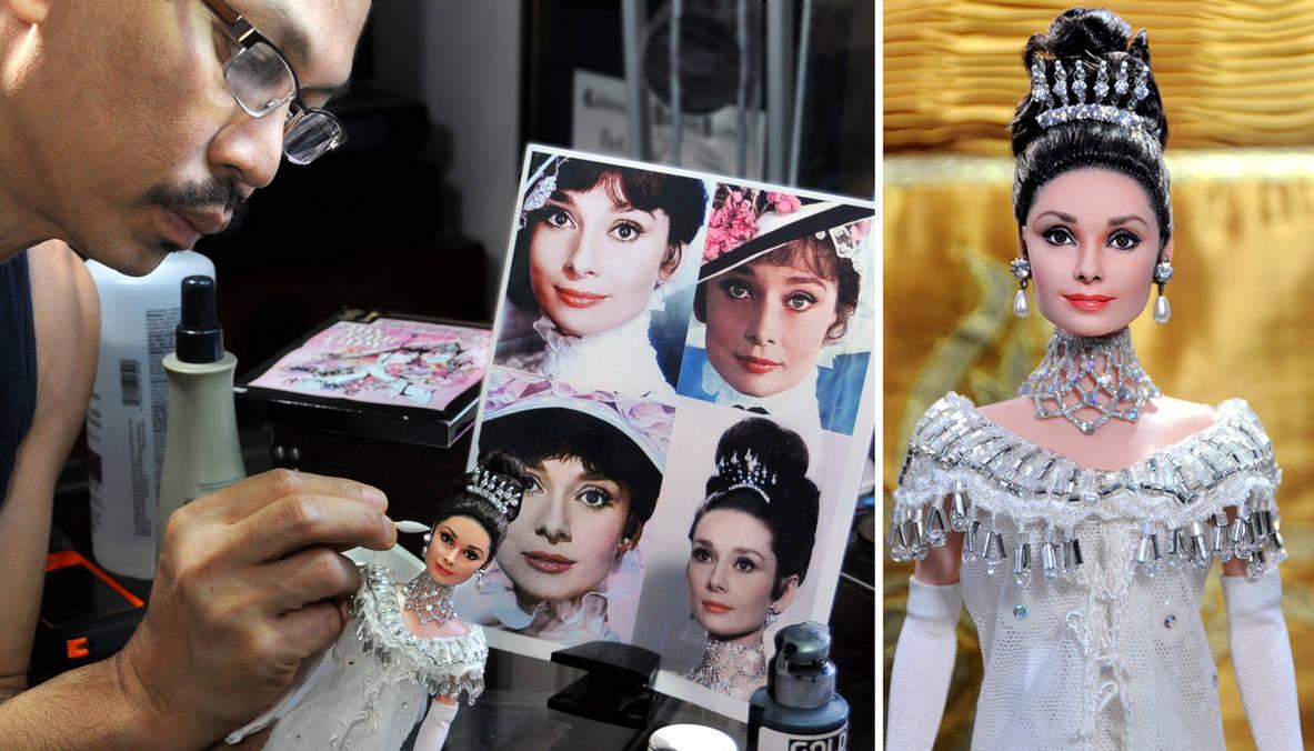 My Fair Lady Audrey Hepburn custom repainted doll