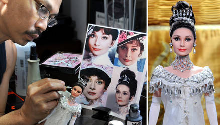 My Fair Lady Audrey Hepburn custom repainted doll