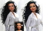 Diana Ross custom doll repaint
