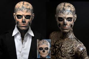 Zombie boy Rick Genest custom doll repaint by noeling