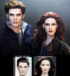 Breaking Dawn Part 2 Edward and Bella dolls