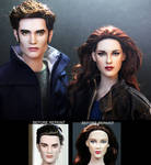 Breaking Dawn Part 2 Edward and Bella dolls
