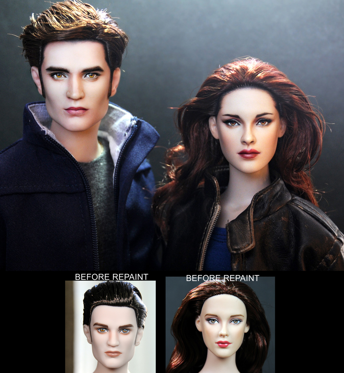 Breaking Dawn Part 2 Edward and Bella dolls by noeling