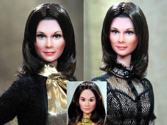 Kate Jackson Charlie's Angels doll repaint by noeling