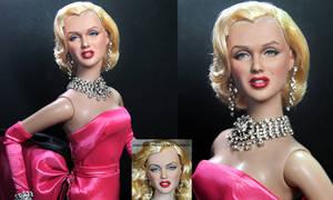 Marilyn Monroe custom doll repaint by Noel Cruz