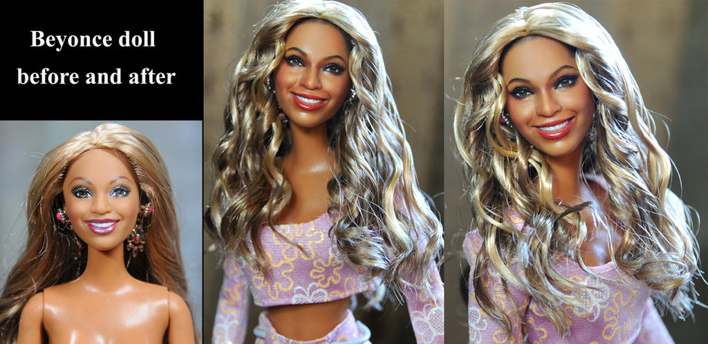 Beyonce custom doll repaint by Noel Cruz by noeling