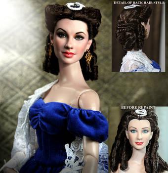 Vivien Leigh as Scarlett O'hara doll repaint by noeling