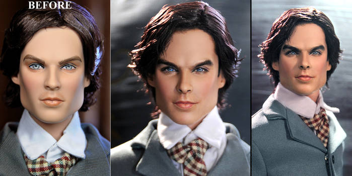 Vampire Diaries Damon1864 custom doll repaint by noeling