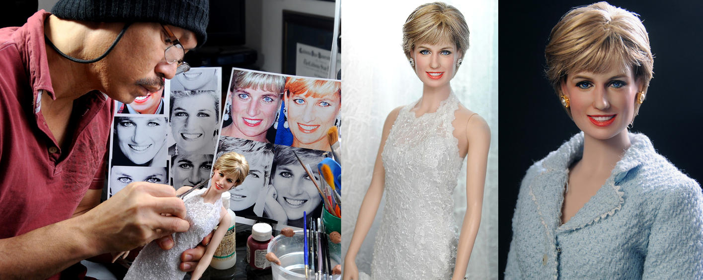 Custom painting Princess Diana doll by Noel Cruz by noeling