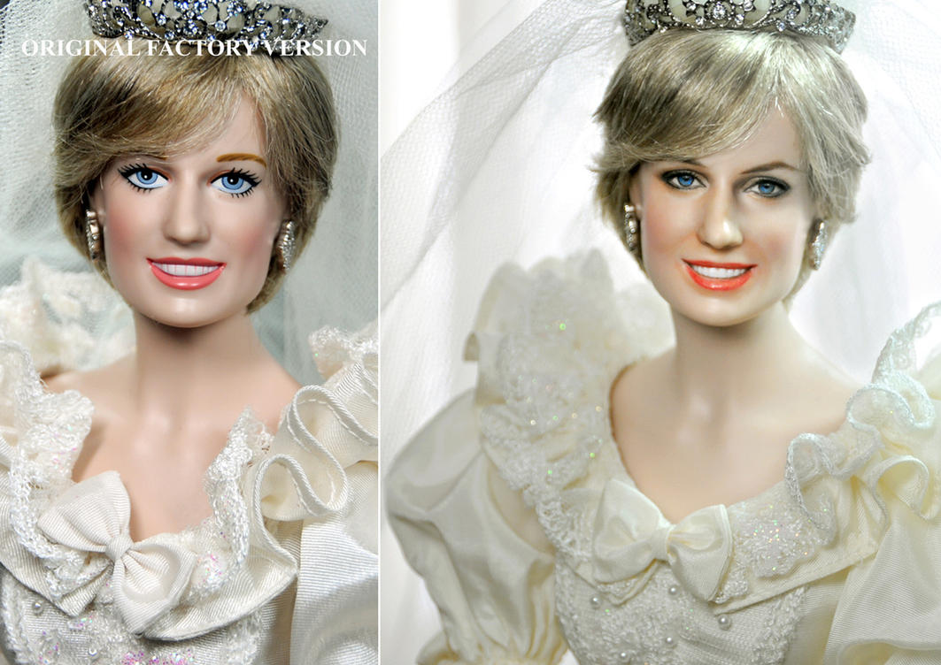 Princess Diana Wedding doll custom repaint by noeling