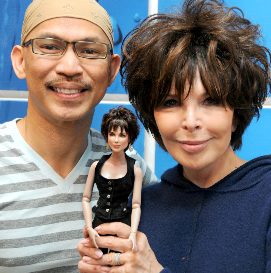With songrwiter Carole Bayer Sager and custom doll by noeling