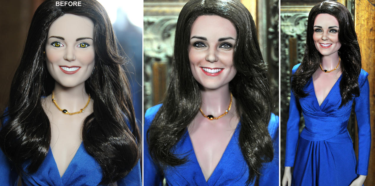custom doll repaint Kate Middleton by noeling