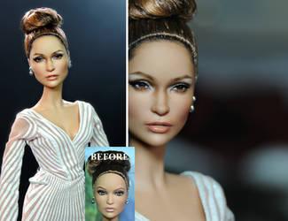 JLo Jennifer Lopez doll repaint by Noel Cruz by noeling