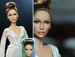 JLo Jennifer Lopez doll repaint by Noel Cruz
