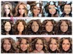 Jennifer Lopez doll repaint WORK IN PROGRESS