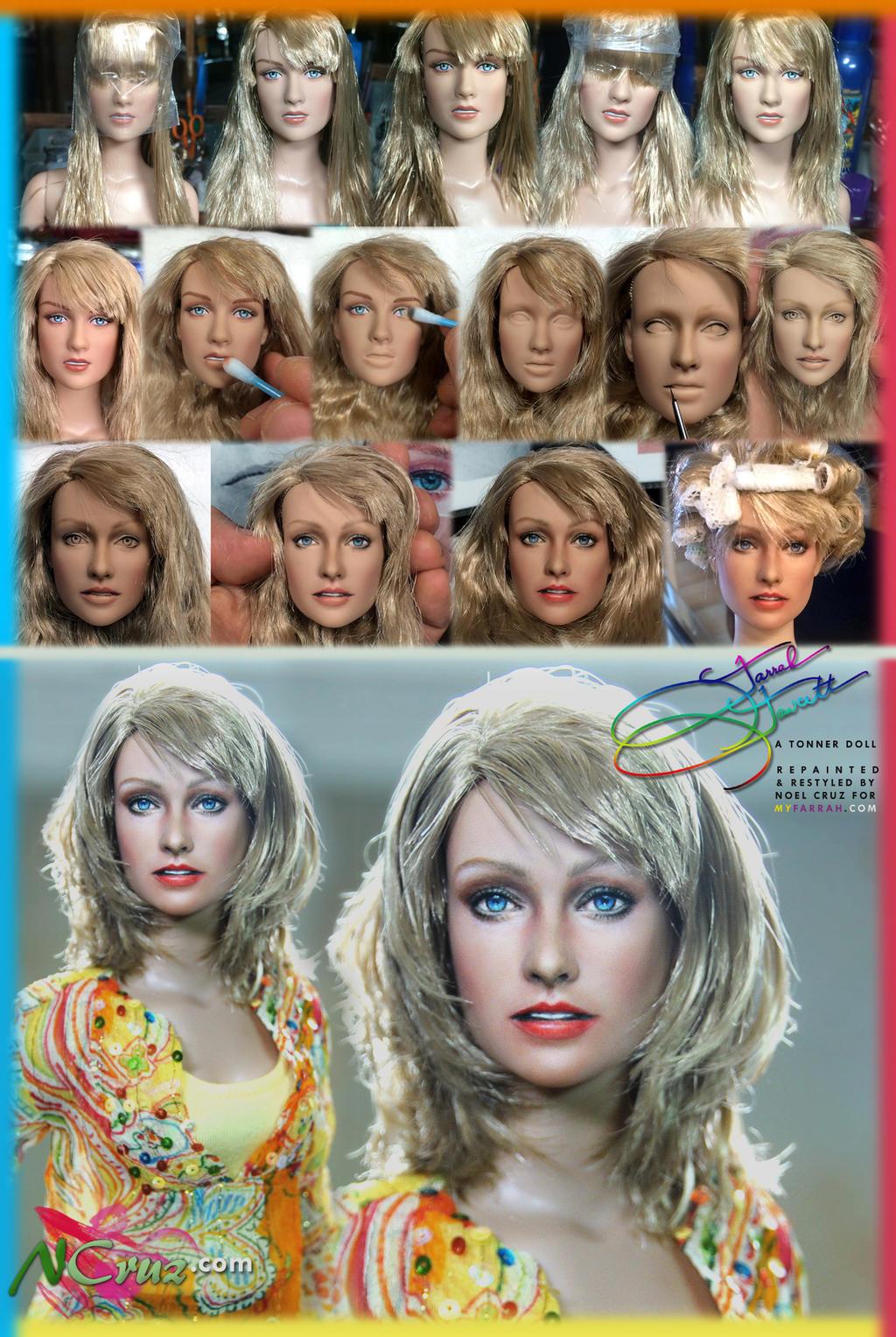 TRANSFORMATION - Tonner doll as Farrah Fawcett by noeling