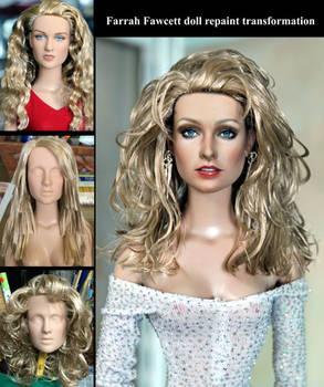 Farrah Fawcett doll - repaint transformation