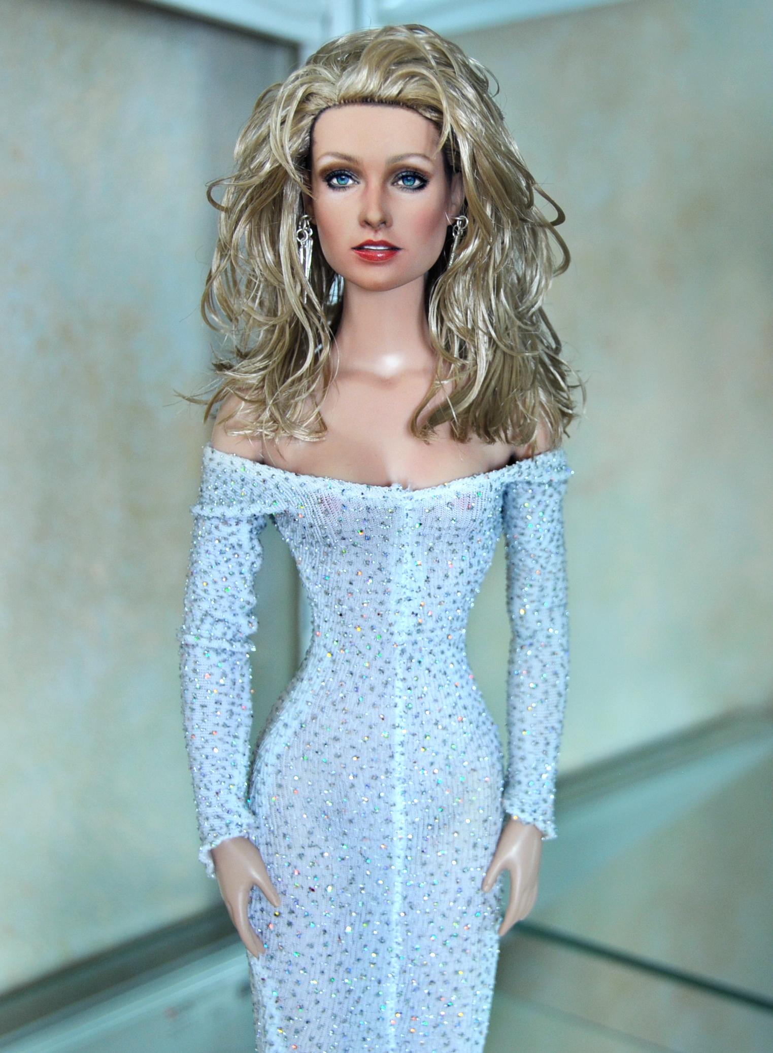custom Farrah Fawcett doll repaint - pic 2 by noeling