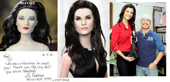 presenting Mis USA 1994 custom doll of herself by noeling