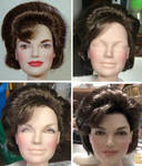 Jacqueline Kennedy doll repaint - Work in Progress