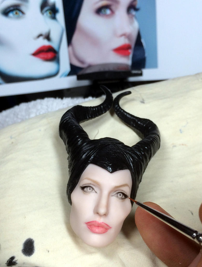 Angelina Jolie Maleficent doll - work in progress by noeling
