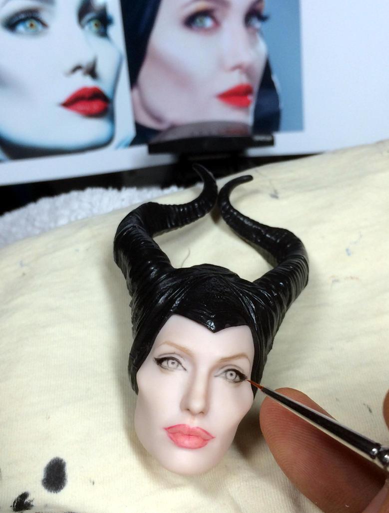 Angelina Jolie Maleficent doll - work in progress by noeling
