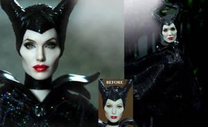 Angelina Jolie Maleficent custom doll by Noel Cruz by noeling