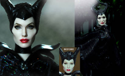 Angelina Jolie Maleficent custom doll by Noel Cruz