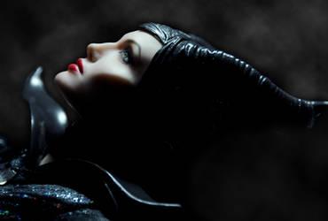 Angelina Jolie Maleficent custom doll repaint by noeling