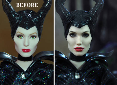 Angelina Jolie Maleficent Doll Repaint - Noel Cruz