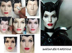 Angelina Jolie Maleficent doll Repaint Process