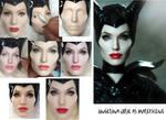Angelina Jolie Maleficent doll Repaint Process