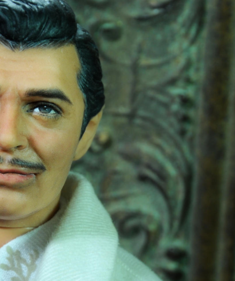 Clark Gable Rhett Butler doll repaint preview by noeling
