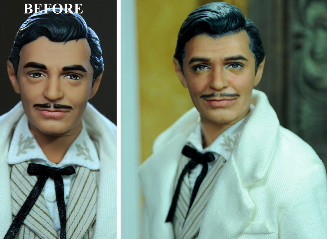 Rhett Butler Gone With The Wind doll repaint by noeling
