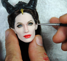 Angelina Jolie Maleficent coronation doll - WIP by noeling