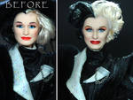 Glenn Close Cruella Devil doll custom repaint