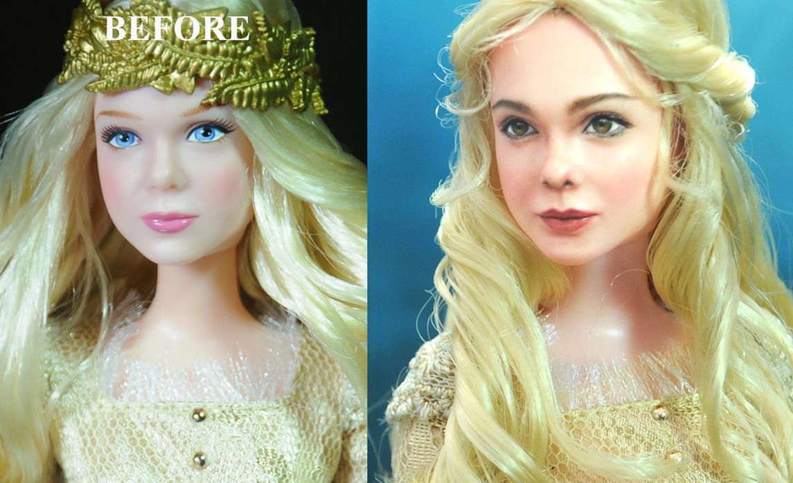 Elle Fanning as Maleficent Aurora doll - Noel Cruz by noeling