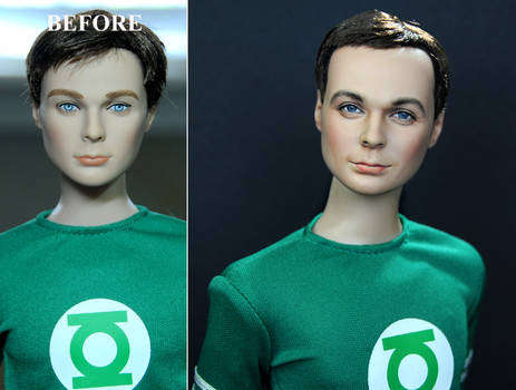 custom repaint Big Bang Theory Sheldon Cooper doll