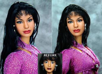 Selena Quintanilla custom doll repaint