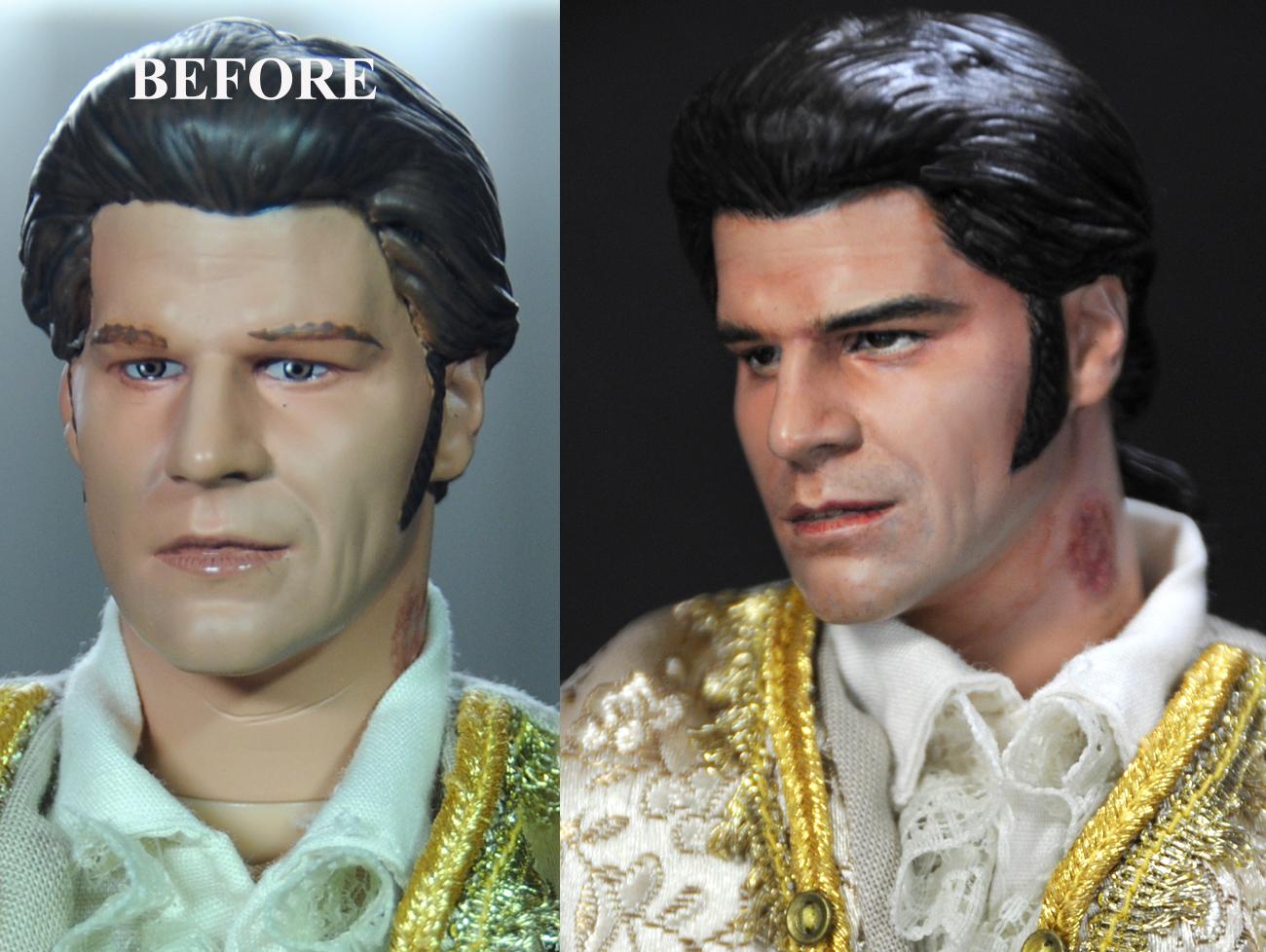 David Boreanaz as Liam /Angelus doll repaint by noeling