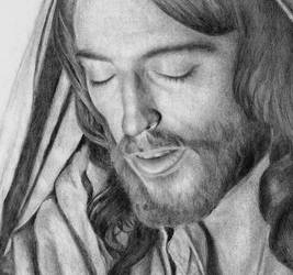 the Lord in Prayer (detail) by noeling