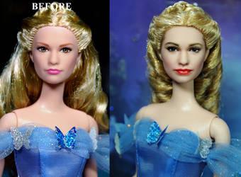 Cinderella 2015 Lily James doll custom repaint